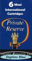 Private Reserve Maxi Ink Cartridges - Daphne Blue