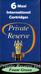 Private Reserve Maxi Ink Cartridges - Foam Green