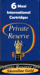 Private Reserve Maxi Ink Cartridges - Shoreline Gold