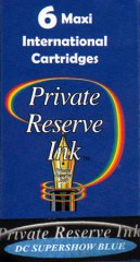 Private Reserve Maxi Ink Cartridges - DC Supershow Blue