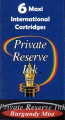 Private Reserve Maxi Ink Cartridges - Burgundy Mist
