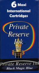 Private Reserve Maxi Ink Cartridges - Black Magic Blue