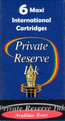 Private Reserve Maxi Ink Cartridges - Arabian Rose