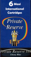 Private Reserve Maxi Ink Cartridges - Ebony Blue