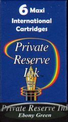 Private Reserve Maxi Ink Cartridges - Ebony Green