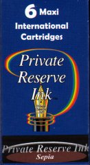 Private Reserve Maxi Ink Cartridges - Sepia