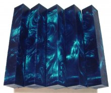 Mono Swirls Pen Blanks - Midnight Blue