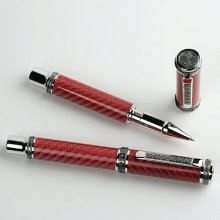 Emperor Rollerball Pen Kit - Rhodium & Black Ti