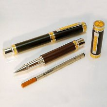Emperor Rollerball Pen Kit - Rhodium & 22K Gold