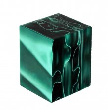 Emerald Swirl Acrylic Bottle Stopper Blank