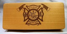 Fire & Rescue Laser Engraved Pen Box