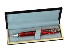 Black Pen Gift Box - Metal Rimmed. Open