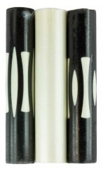 Black & White Graphite Stripe Rotacrylic pen blank - 3 Piece Set