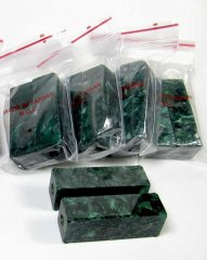Christmas Pack Cigar Pen Blanks -  Drilled & Tubed 8 Pack - Green