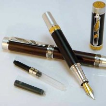 Imperial Fountain Pen Kit - Rhodium & Black Ti