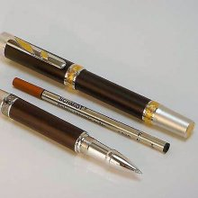 Imperial Rollerball Pen Kit - Rhodium & 22KT Gold
