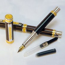 Jr Emperor Fountain Pen Kit - Rhodium & 22K Gold