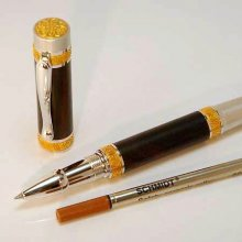Lotus Rollerball Pen Kit - Rhodium & 22K Gold