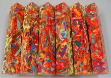 Color Explosion Mosaic Pen Blanks - Fire