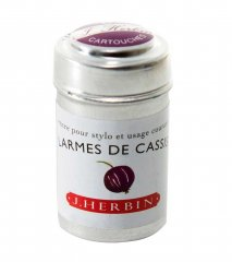 Larmes Cassis J. Herbin Cartridges - Tin of 6