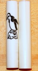 Tux the Penguin Rotacrylic pen blank