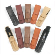 Executive Leather Pen Pouches - 10 Pk Asst Colors