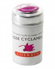 Rose Cyclamen J. Herbin Cartridges - Tin of 6