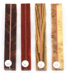 Joe's Segmented Wood Pen Blanks - Sandwich Pattern 29-32