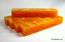 Spiced Orange Lucite Pen Blanks - 8""