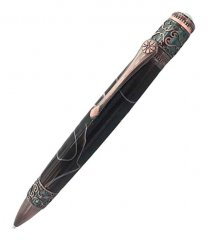 Spiritual Twist Ballpoint Pen Kit - Antique Rose Copper & Gunmetal