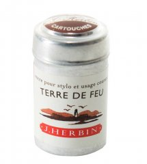 Terre De Feu J. Herbin Cartridges - Tin of 6