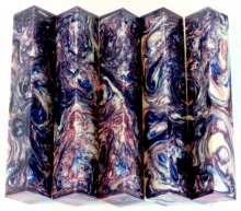 Vaper Swirl Pen Blanks #13 - Berried Treasure