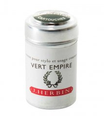 Vert Empire J. Herbin Cartridges - Tin of 6