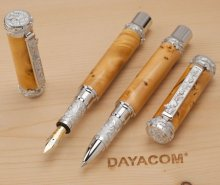 Great Palace Vine Rollerball Pen Kit - Rhodium & Rhodium