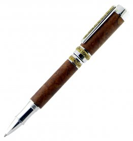 Cambridge Rollerball Pen Kit - Stunning Silver With Ti-Gold