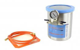 Glass Vac 1.5 Gallon Stainless Steel Vacuum Chamber