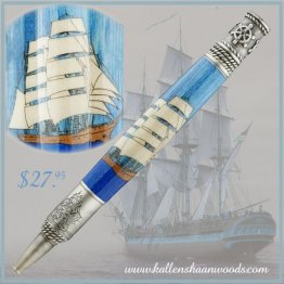 Tall Ship Laser Inlay Kit - PSI Nautical Pen Kit