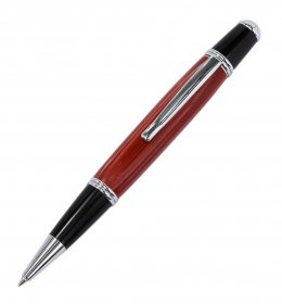 Le Roi LB (Long Body) Ballpoint Pen Kit  - Chrome/Black Chrome-D37