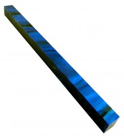 Long Pen Blank - Lava Bright Sapphire Blue Silk 12 in.