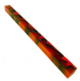 Long Pen Blank - Lava Bright Orange & Black 12 in.