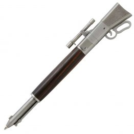 Lever Action Rifle Click Pen Kit - Antique Pewter With Metal Gunstock (PSI)