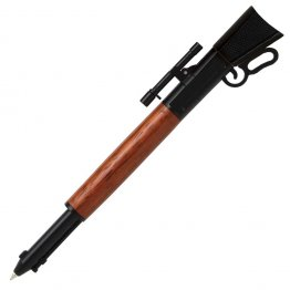 Lever Action Rifle Click Pen Kit - Matte Black With Metal Gunstock (PSI)