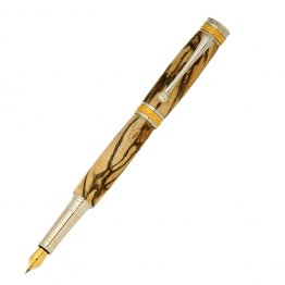 Majestic Jr Fountain Pen Kit - Rhodium & 22KT