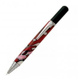 Rollester Rollerball Pen Kit - Chrome With Black Cap