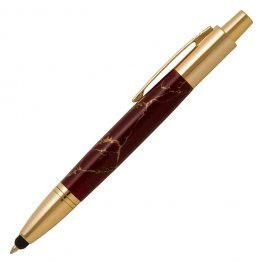 Vesper Click Pen with Stylus - 24K Gold