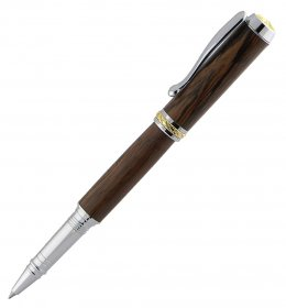 Triton Convertible Pen Kit - Chrome With Gold Accents