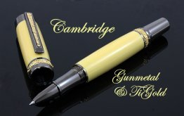 Cambridge Rollerball - Gunmetal With Ti-Gold Accents