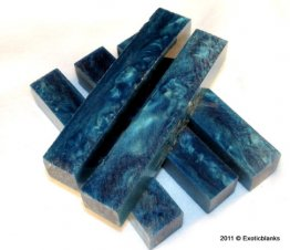Caribbean Waters Rhino Plastic Pen Blanks