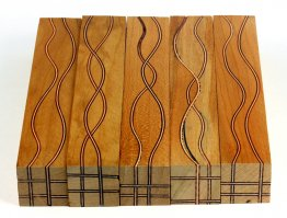 Segmented Triple Serpentine Blank - Cherry With Redheart Maple & Redheart Veneers