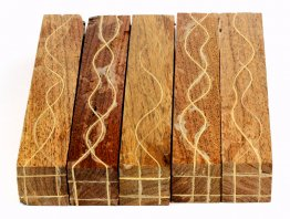 Segmented Serpentine Blanks - Mesquite With Maple Veneers